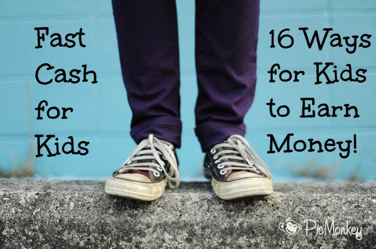 Fast Cash for Kids!: 16 Jobs kids can do to earn money.