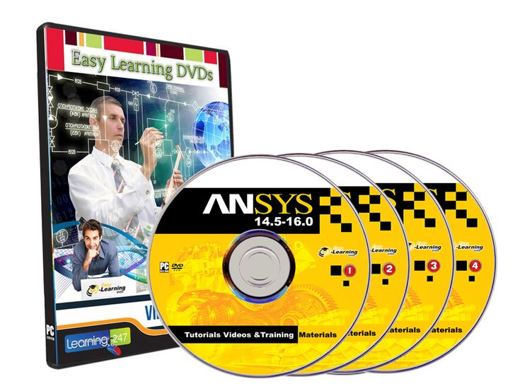 ANSYS 14.5-16.0 Tutorials, Tutorial Videos And Training materials on 4 DVDs