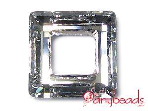 Crystal CAL - Austrian Swarovski Crystal Elements 4439 Square Pendant 14mm #CrystalCAL #SwarovskiCrystal #4439 #anybeads #pendant