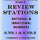 Note: This product is part of my Complete Bundle of Math Stations and Task Cards Irrational and Rational Numbers Stations   8.NS.1 and 8.NS.2 Commo...