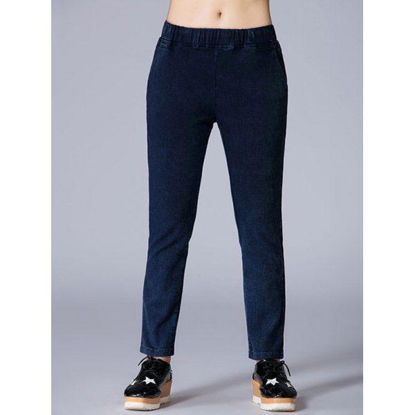 Pantalones Lápiz  Cintura Elástica con Cuentas