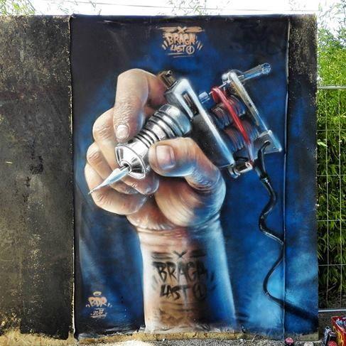 street art Braga Last One, France