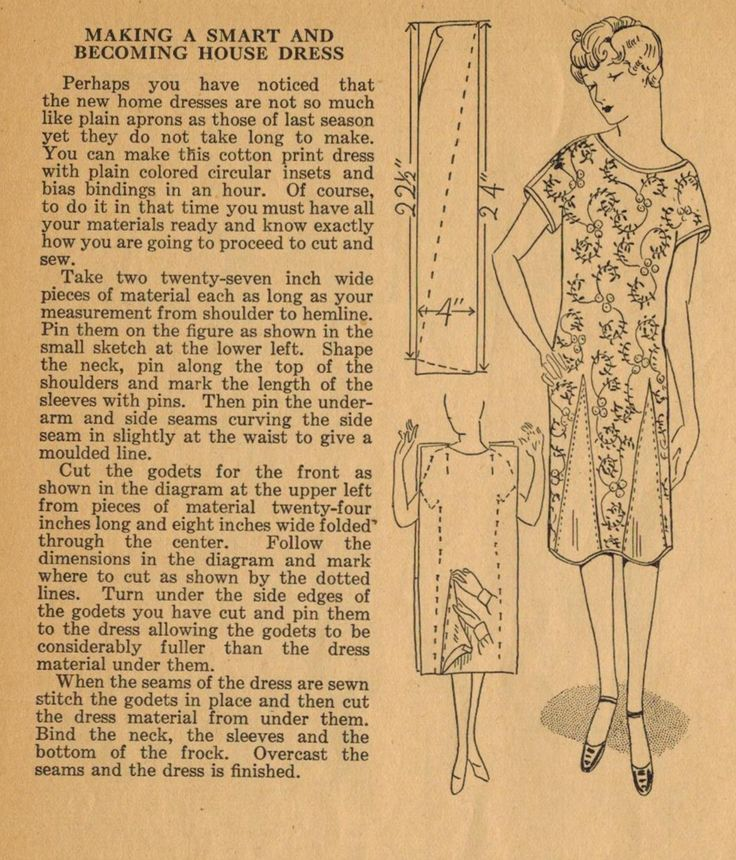 Home Sewing Tips from the 1920s   Making a Smart and Becoming House Dress  Without a Pattern   in an Hour   The Midvale Cottage Post. Best 25  House dress ideas on Pinterest   Dottie angel  Morgan