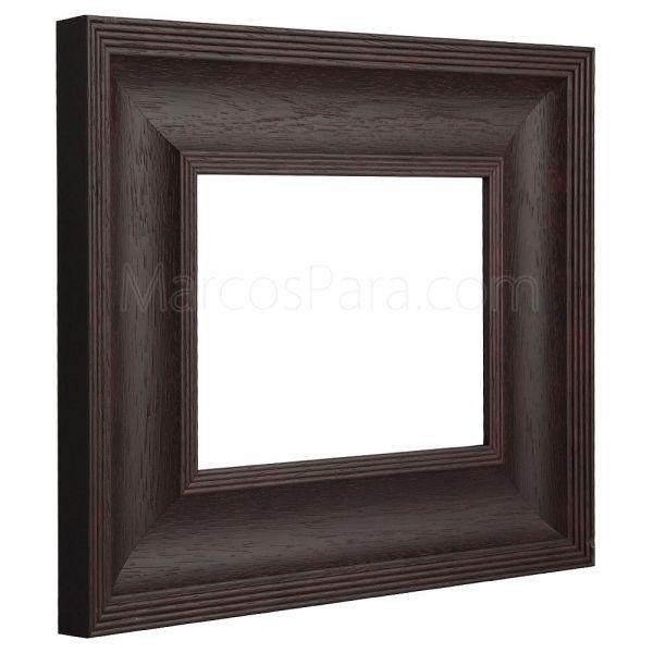 #Marcos para #Puzzles 1094   Marco de estilo rústico en madera de 7cms. Disponible en Nogal y Wengue. Elije tu color, medida, trasera y el tipo de cristal que quieres.