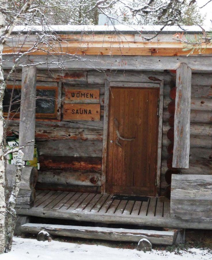 Sauna for women in #Lapland #ScanAdventures