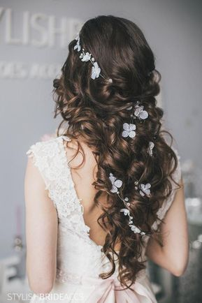 Wedding BOHO 2019 flowers hair vine, rustic bridal hair crystal vine, bridal hair accessories, wedding hairpiece with flowers
