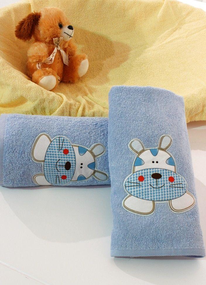 Açık Mavi Çocuk Banyo Havlusu | Banyo Tekstili | Moda Fabrik