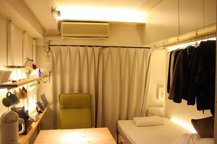 5畳の部屋をdiy天井やベッド周りにテープライトで間接照明
