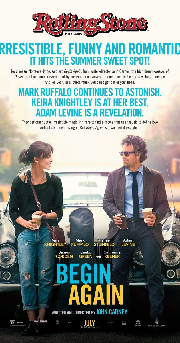 Directed by John Carney.  With Keira Knightley, Mark Ruffalo, Adam Levine, Hailee Steinfeld. A chance encounter between a disgraced music-business executive and a young singer-songwriter new to Manhattan turns into a promising collaboration between the two talents.