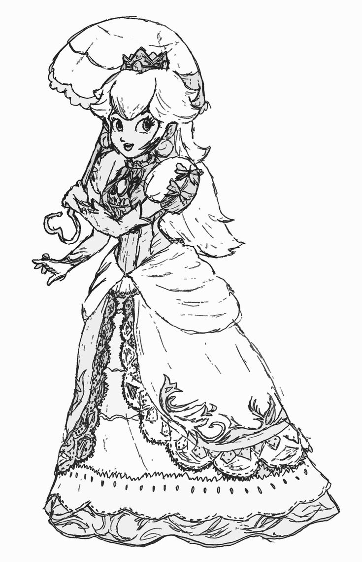 princess peach the damsel in distress rescued by mario and luigi in nintendos popular super mario franchise is one of the most sought after coloring page