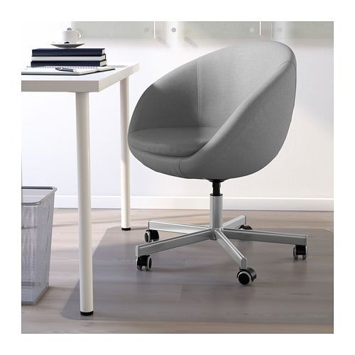 Skruvsta Bureaustoel Vissle Grijs Ikea Affordable Furniture Dining Chair Makeover Chic Office Chair