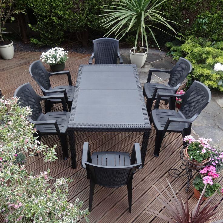 Rondeau Leisure Taviano 6 Seater Dining Set Garden