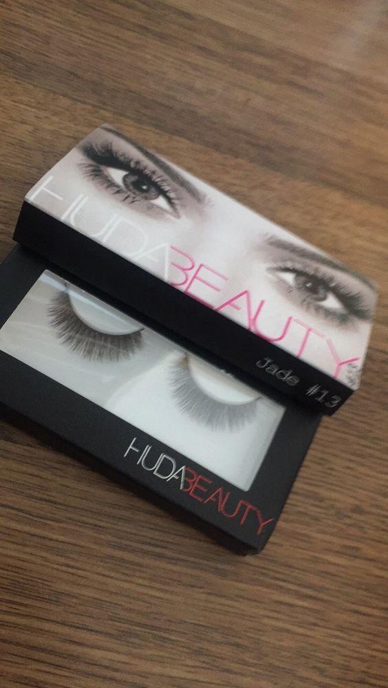 Huda Beauty Fake eyelashes Natural Fibres Lashes - Jade BNIB UK Seller  | eBay