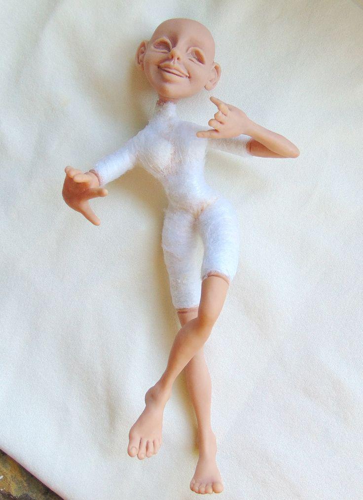 """Обыкновенное чудо: Работа над куклой из полимерной глины. Одеваемся в """"кожу"""""""