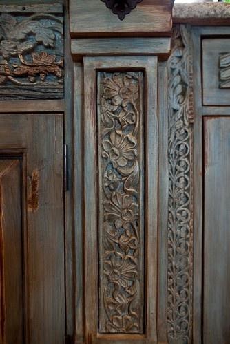 Kitchen Cabinet Detail - mediterranean - kitchen cabinets - austin - Rick O'Donnell Architect