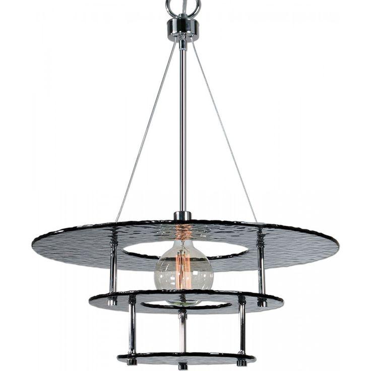 Uttermost Gyrus 1-Light Smoke Glass Chandelier    Montreal Lighting & Hardware
