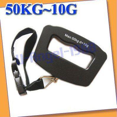 3шт / lot 50 Kg / 10 g жк-дисплей цифровой подвесной багаж вес крюк весы