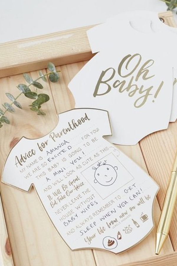Oh Baby Shower Advice Cards, Baby Shower Game, Baby Shower Activities, Gender Ne…