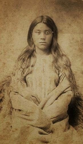 Winnebago Indian woman taken in 1868 in Wisconsin