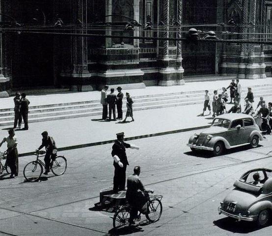 Piazza del Duomo, anni '30, #Firenze