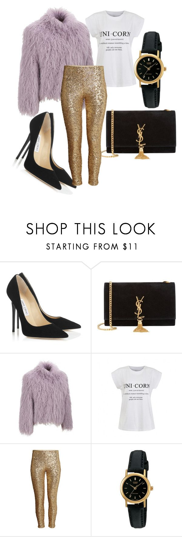 """More is more"" by jiroutconsulting on Polyvore featuring Jimmy Choo, Yves Saint Laurent, Wilsons Leather, Ally Fashion, H&M and Casio"