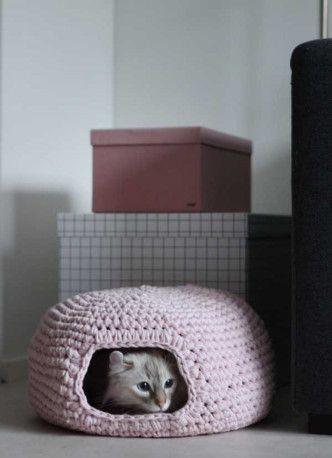 DIY Crochet Cat Cave -                                                                                                                                                                                 More