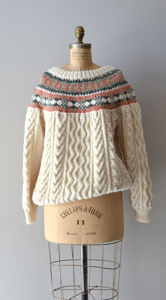 Andermatt sweater / vintage fair isle sweater / hand by DearGolden