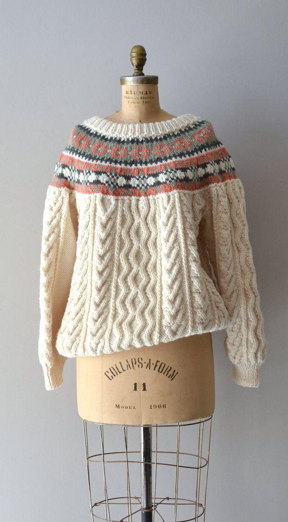 Andermatt sweater / vintage fair isle sweater / hand by DearGolden