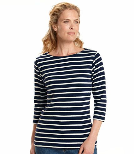 French sailor 39 s shirt three quarter sleeve boatneck one for Striped french sailor shirt