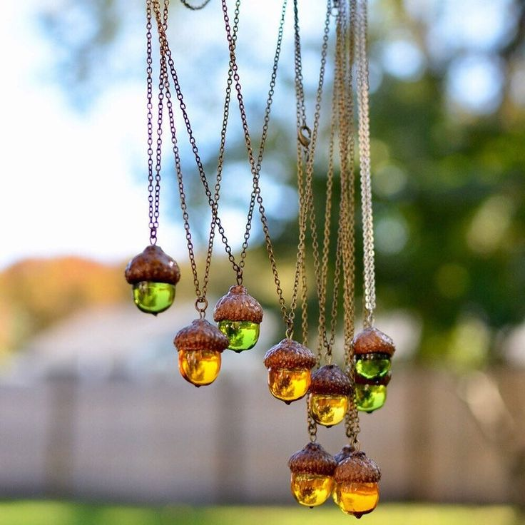 Acorn amber necklace woodland necklace nature lover gift