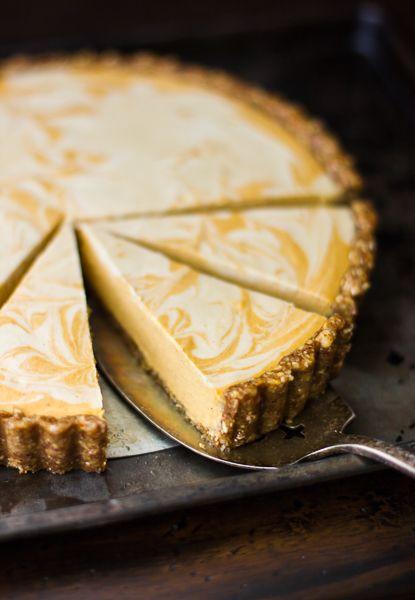 The Bojon Gourmet: Kinda Raw Marbled Pumpkin Tart (Grain-Free and Vegan)