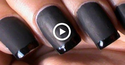 Black Matte Nail Polish Deigns + How to Make Matte Polish at Home?!