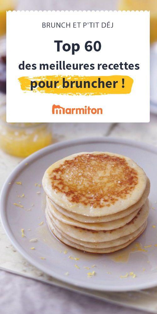 Pancakes, toasts à l'avocat, smoothies, crêpes, ce sont les recettes du brunch parfait pour un petit-déjeuner qui dure le week-end #marmiton #brunch #petitdej #pancakes