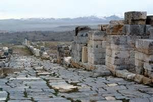 Ancient street in the ruins of Antioch, Turkey.