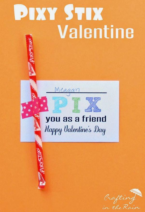 Pixy Stix Valentine | Crafting in the Rain #valentine #printable