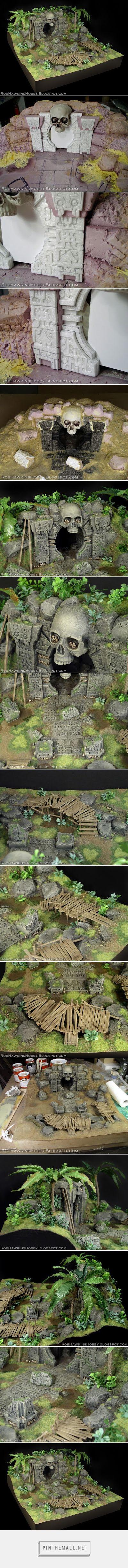 Rob Hawkins Hobby: Conan Terrain: Jungle Temple - created via http://pinthemall.net