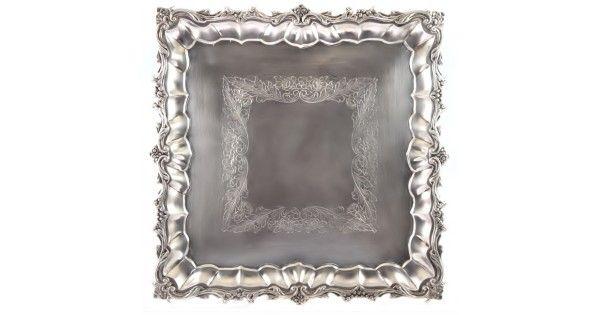 Tava-platou pentru aperitive, din argint   Neo-baroc   atelier spaniol. cca. 1940