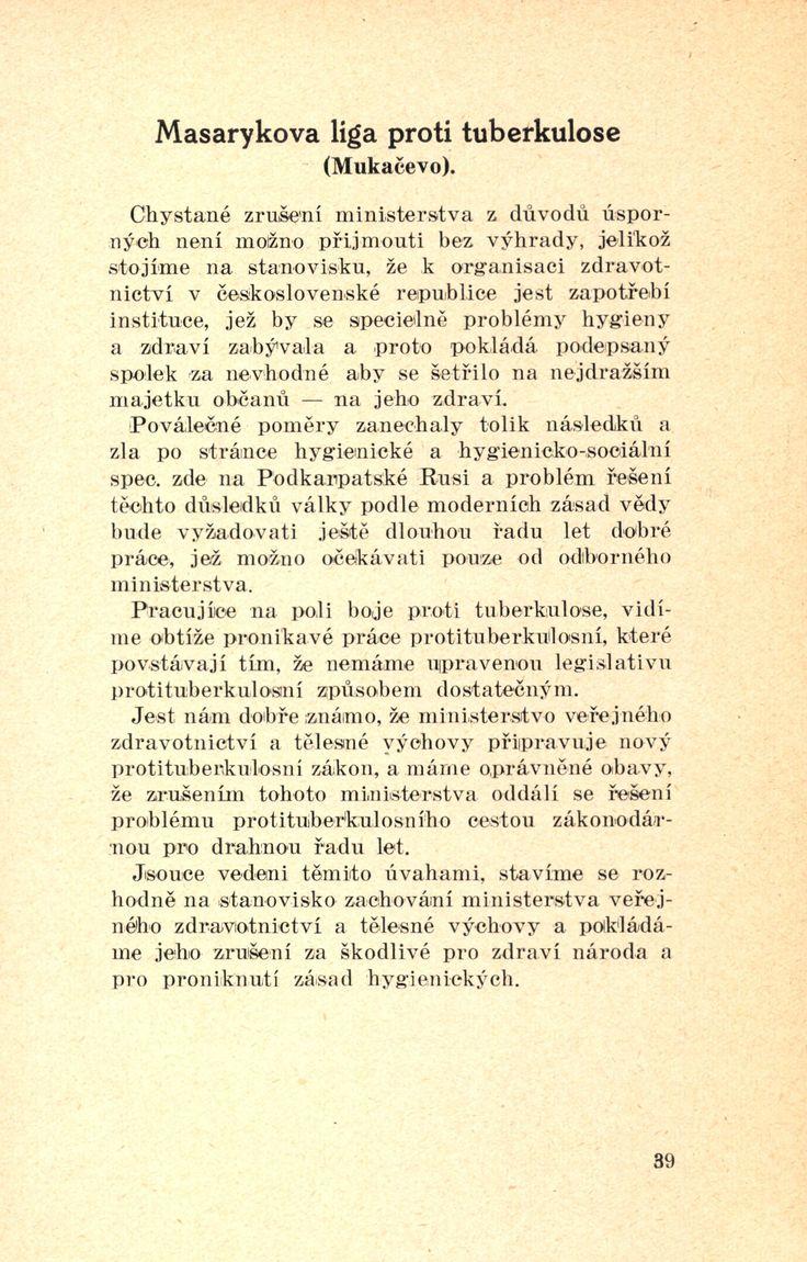 Proč potřebujeme ministerstva zdravotnictví, Praha: Ústřední jednota českosl. lékařů, 1926