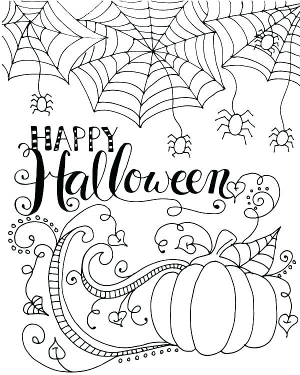 Halloween Coloring Page Pdf Pages Happy Printable Rhpinterest: Happy Halloween Coloring Pages Pdf At Baymontmadison.com