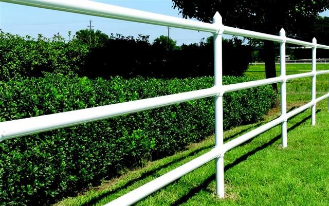 Pvc pipe rail fence fencing panels