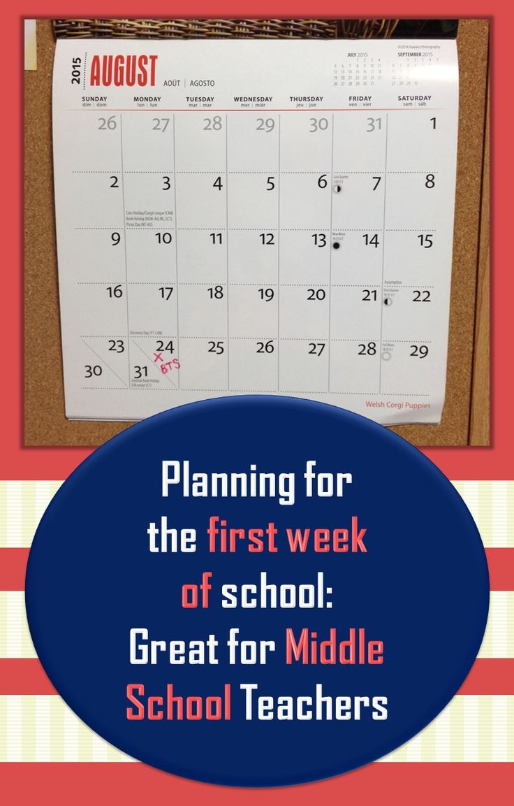 Back to school: Read about what you can do in the first five days of the school year