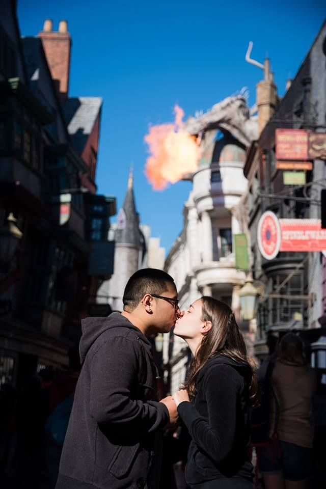 Wizarding World Of Harry Potter Engagement Session At Universal Studios Florida Photo