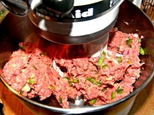 Mixing meatloaf in a kitchen aid mixer...No more messy hands!