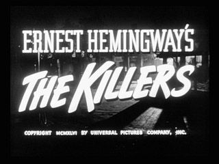 The killers 1946 Film noir movie title