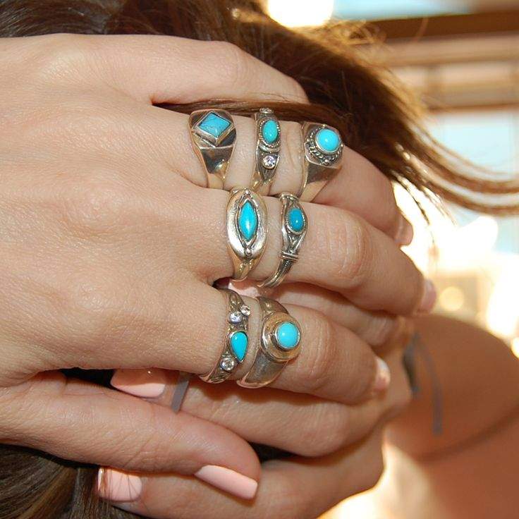 Bohemian look with turquoise. Handmade in our workshop by greek hands.