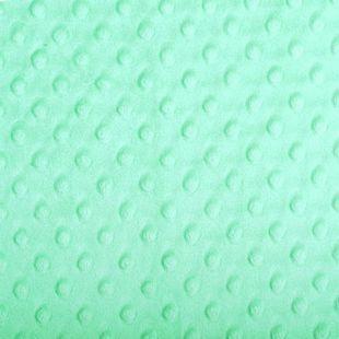 Acheter tissu minky tout doux vert opale