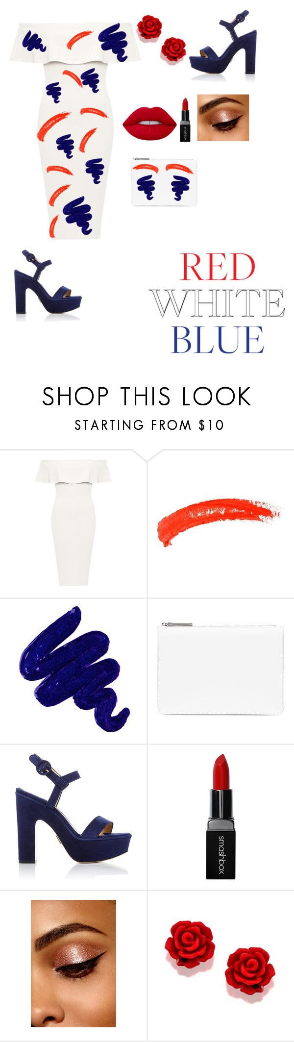 """Untitled #34"" by farahalmazyad ❤ liked on Polyvore featuring WearAll, Topshop, Obsessive Compulsive Cosmetics, Maison Margiela, Paul Andrew and Smashbox"