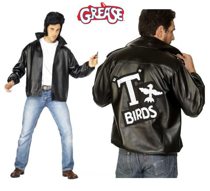 Chaqueta T-Birds de Grease con logo bordado hombre en varias tallas. Disfrázate del auténtico Danny Zuko (John Travolta) en la mitica película GREASE. El precio incluye sólo la chaqueta. Podrás ver pelucas con tupé en la sección de Accesorios - Pelucas.