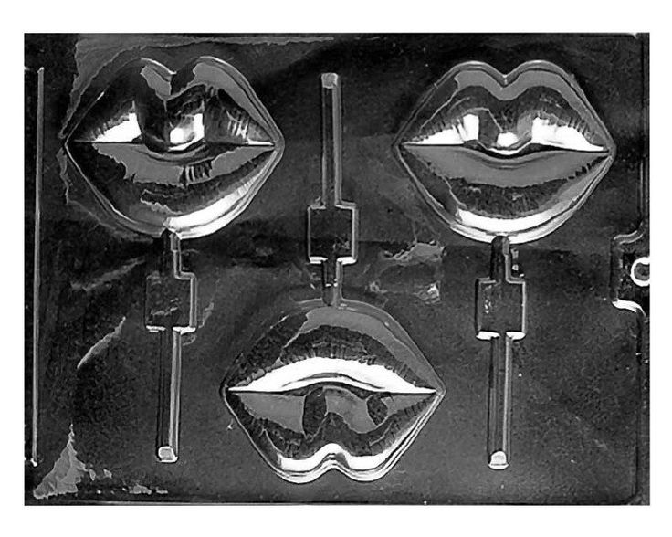 Lips Chocolate Lollipop Mold - Large, 1 pc