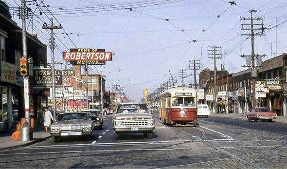Danforth and Coxwell The cluttered beauty of Toronto streets in the 1960s